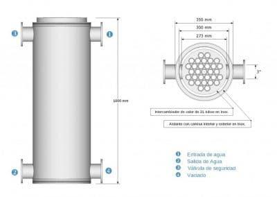 Intercambiador de calor Esquema 31-TPT