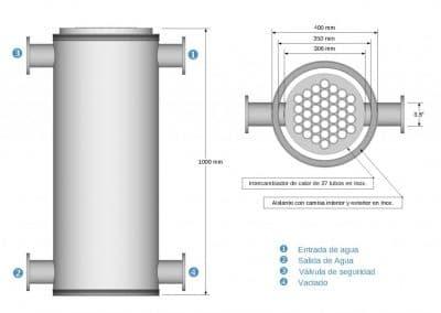 Intercambiador de calor Esquema 37-TPT