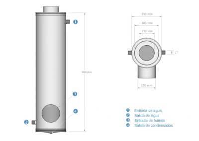 Intercambiador de calor | Esquema 1-TPT